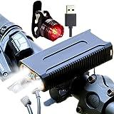 好品轩 自転車ライト 2400ルーメン USB充電式 IP65 防水 防振 テールライト付き