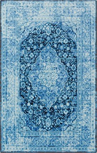 Mohawk Home Prismatic Caspar Blue Distressed Precision Printed Area Rug, 5'x8', Blue
