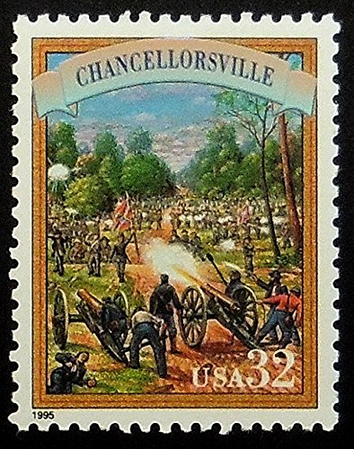 Chancellorsville USA -Handmade Framed Postage Stamp Art 19563