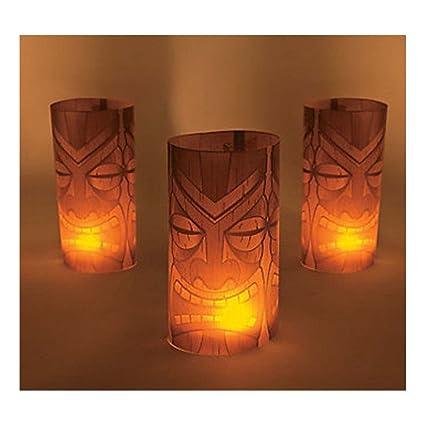 Amazon.com: 6 Tiki Luminary Wraps Luau fiesta de cumpleaños ...