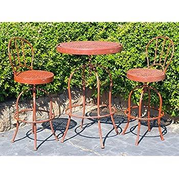 Amazoncom Metal Nostalgia French Bistro Garden Table and Chair