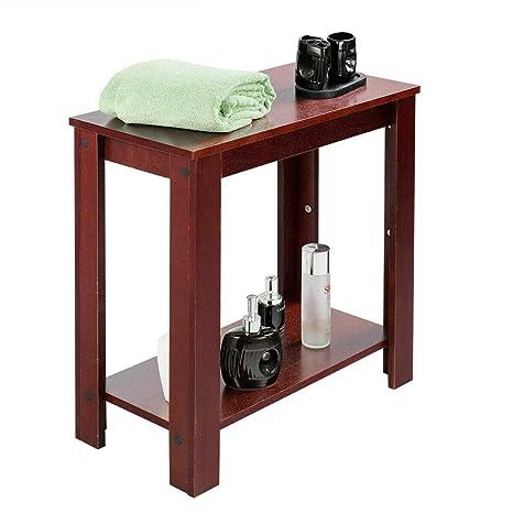 Amazon.com: Cypress Shop - Mesa auxiliar de madera con ...