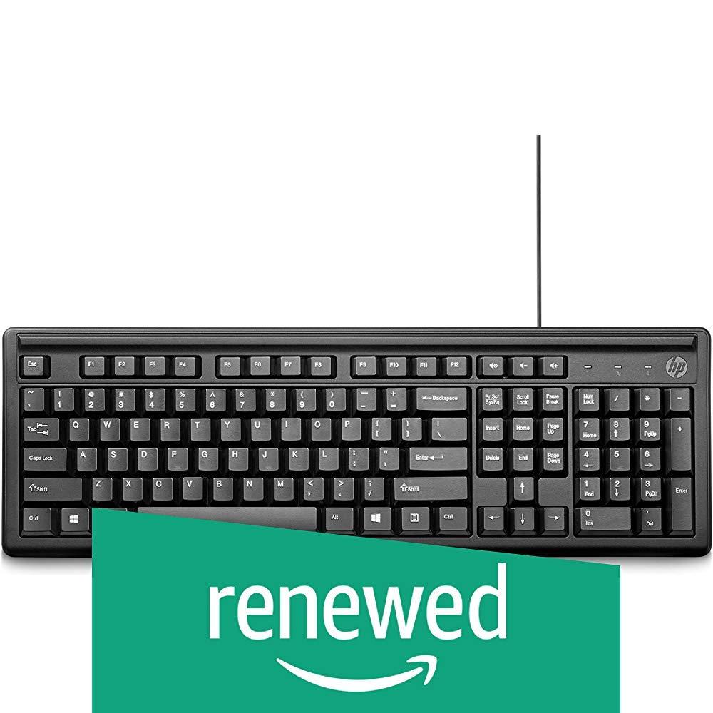 (Renewed) HP 100 Wired USB Keyboard (B07V3W9F1F) Amazon Price History, Amazon Price Tracker