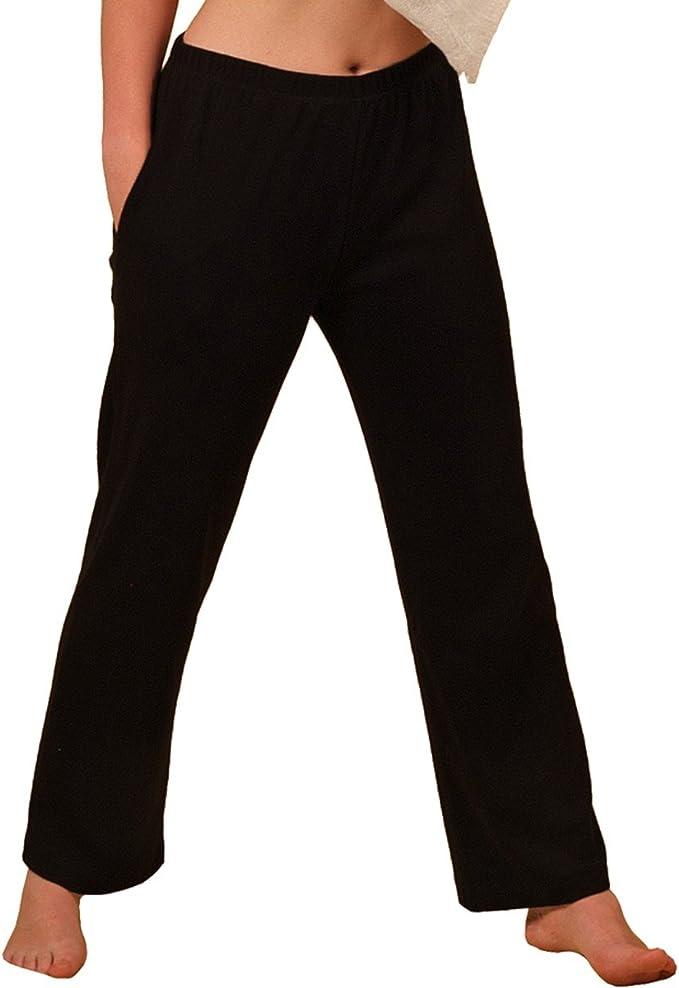 HERMKO 984 Pantalones de Estar por casa para Mujer, Tratamiento, Gimnasia, con Bolsillo, 100% algodón, Farbe:Negro, Größe Damen:56/58 (XXXL): Amazon.es: Ropa y accesorios
