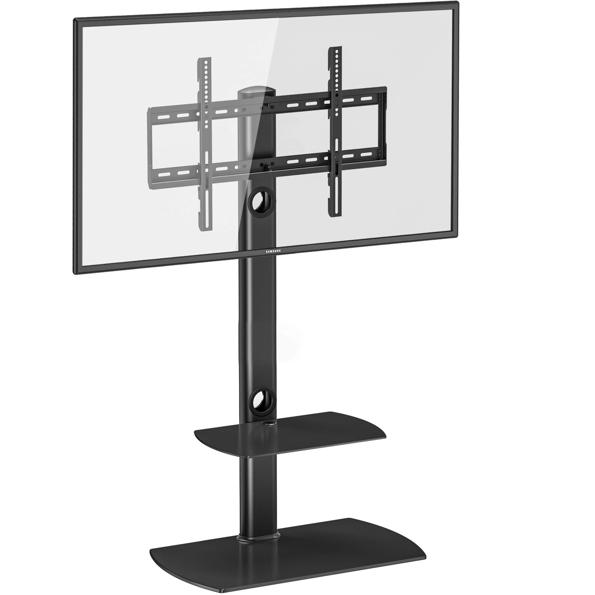FITUEYES Floor TV Stand with Swivel Mount Height Adjustable for 32 to 65 inch LCD, LED OLED TVs TT206502GB