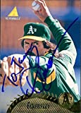 "Signed Eckersley, Dennis (Oakland Athletics) 1995 Pinnacle Baseball Card. (P, ""To Jason"") autographed"