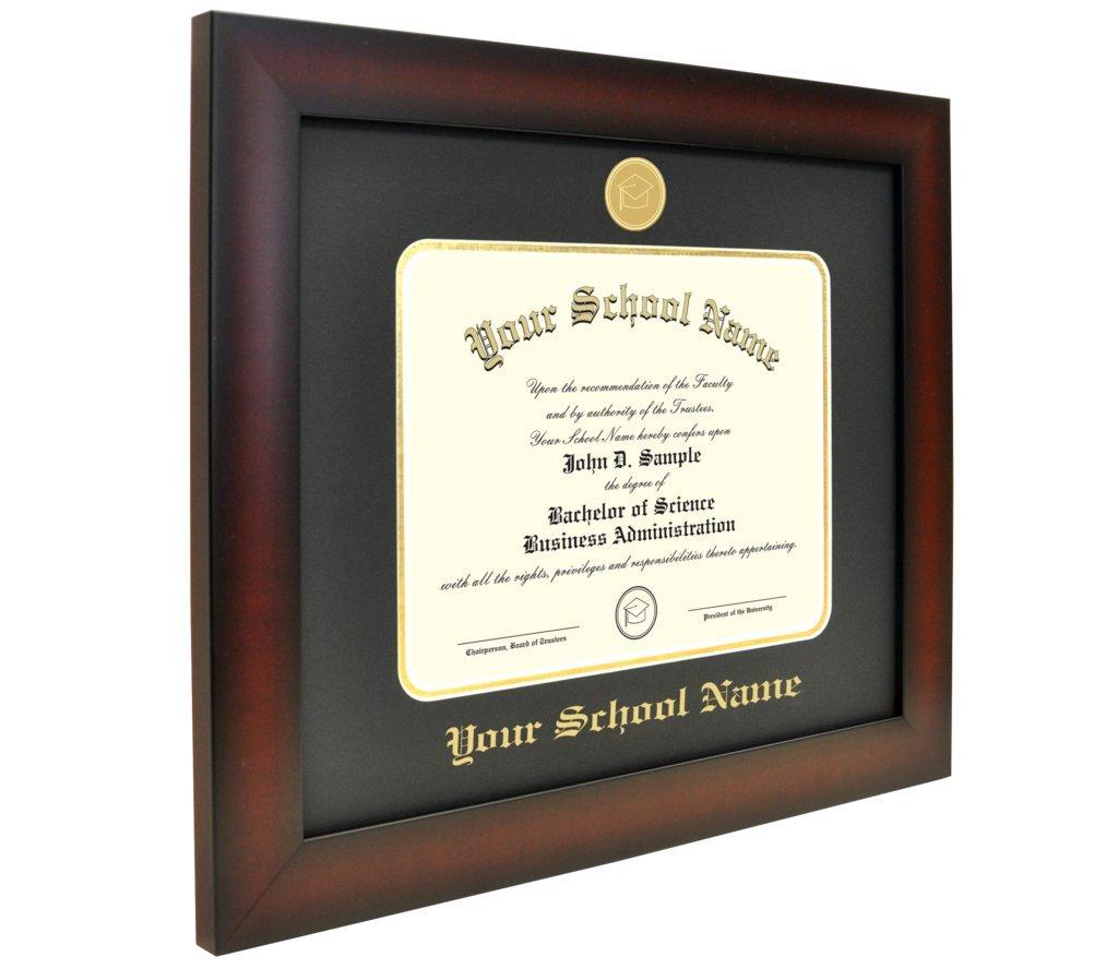 Celebration Frames California Western School of Law 11 x 14 Mahogany Finish Infinity Diploma Frame