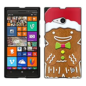 Nokia Lumia 730 Case, Snap On Cover by Trek Happy Gingerbreadmand Case