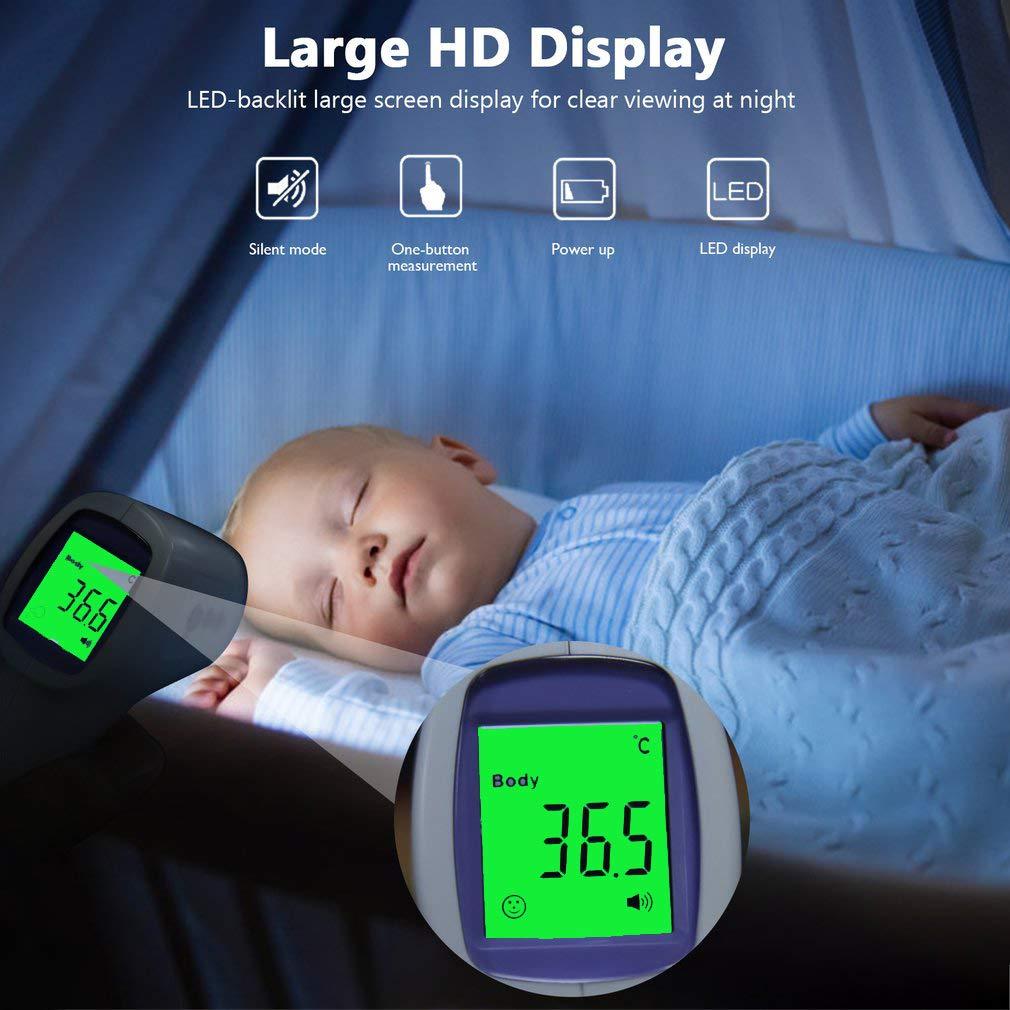 Kinder FVE Digitales Fieber-Thermometer f/ürs Baby Erwachsene Stirnthermometer Digitales Pr/äzision Infrarot Ohrthermometer mit LCD Display