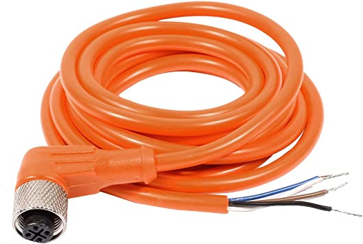 M12 2M Female Right Angle Lead for use with M12 Sensor
