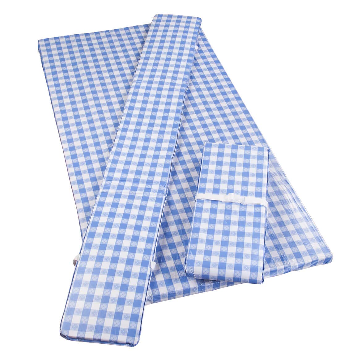 Fox Valley Traders Deluxe Picnic Table Cover w/Cushions by HSK Cornflower Blue