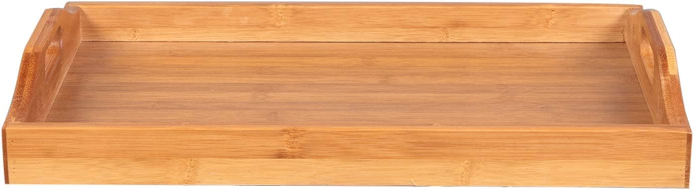 OTU [50 X 35 X 6.3] cm Tray with Handles Wood Color for Surfing The Internet, Coloring, Reading, Eating Food, Breakfast, Dinner, Wine, Doing Homework on The Bed, Sofa, Recliner, Floor, car