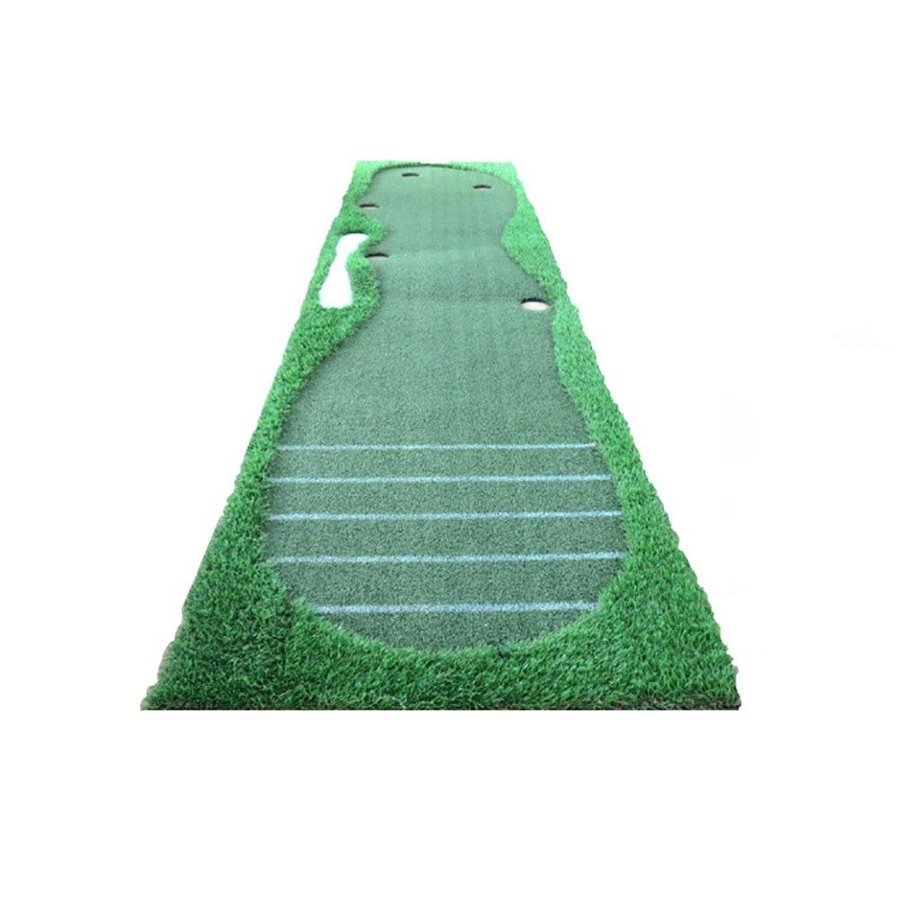 Djyyh ゴルフグリーンズ屋内と屋外パットプラクティスパタープラクティスブランケットボールパッド高速ボールスピード