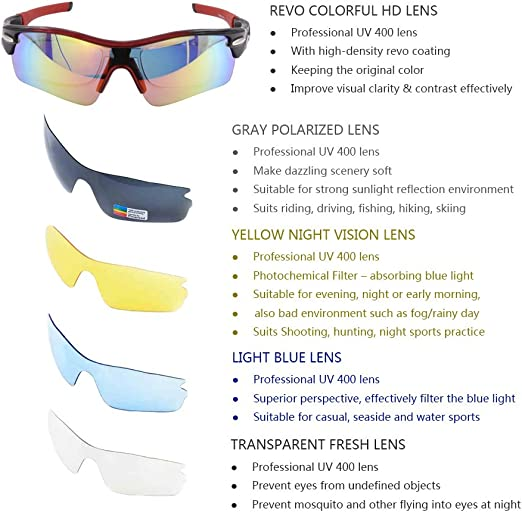 Verspiegelt Freizeit Radbrille Sportbrille Sonnenbrillen Nachtsicht Sunglasses N