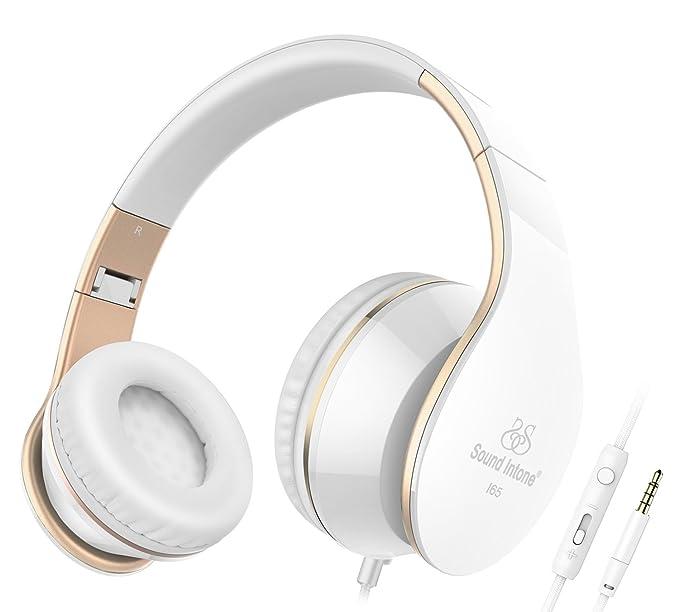 Amazon.com: Headphones, Sound Intone I65 Headphones with Microphone ...