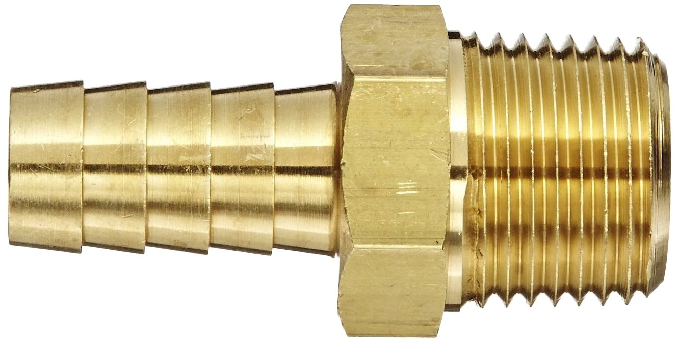 3//8 Hose ID Eaton Products 3//8 Pipe Size Eaton Weatherhead 10506B-106 Male Pipe Fitting Pack of 4 CA360 Brass Pack of 4 3//8 Hose ID 3//8 Pipe Size