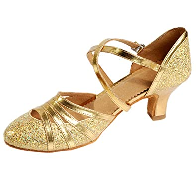 e31f62eb3b25c8 Witch-House sandals Ms Ladies High Heel Latin Shoes Women Bling Shoes  Ballroom Dancing Shoes
