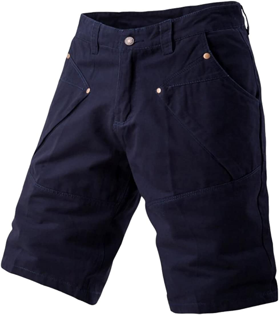 S-Fly Mens Casual Rugged Plain Slim Straight Fit Flat-Front Chino Shorts