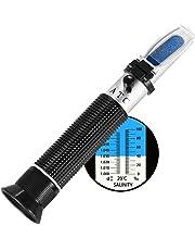 Refractómetro para acuario de agua salada de W-Unique, compensación y temperatura automáticos,