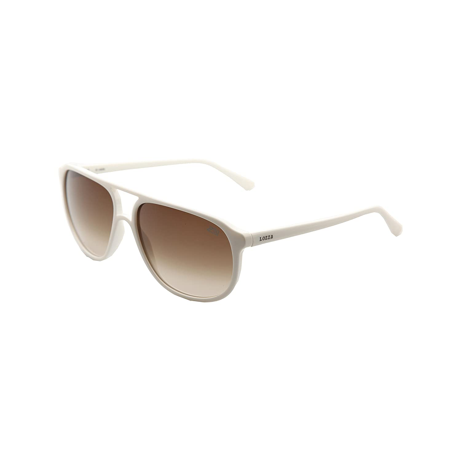 Lozza Gafas de Sol SL1872_03GF (58 mm) Blanco: Amazon.es ...