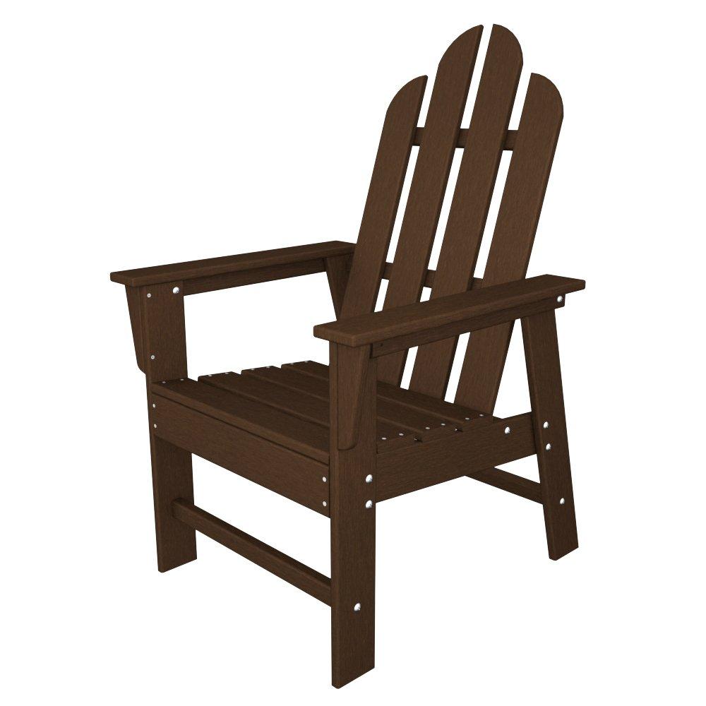 amazoncom polywood ecd16le long island dining chair lemon adirondack chairs patio lawn u0026 garden