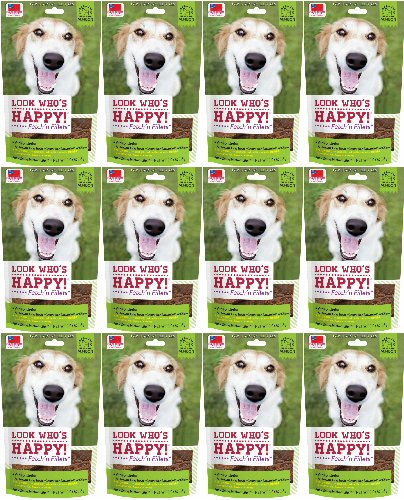 Look Who's Happy! Fetch'n Fillets Venison Jerky 36oz (12 x 3oz) by Look Who's Happy Dog Treats