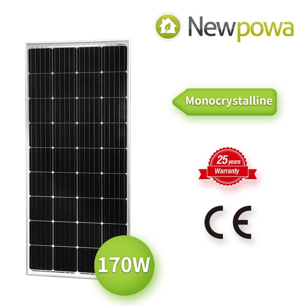 Newpowa 170W 170 Watt 12V Moncrystalline Solar Panel High Efficiency Mono Module
