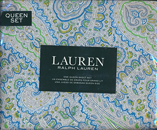 Lauren Ralph Lauren Queen Size 4-piece Sheet Set - 100% Cott
