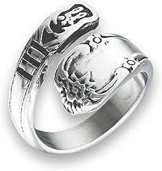152af36c4a77b Amazon.com: Sac Silver: Spoon Rings