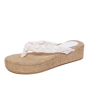 DM&Y 2017 sandalias de paja con pendiente de concha con las zapatillas de viajes a¨