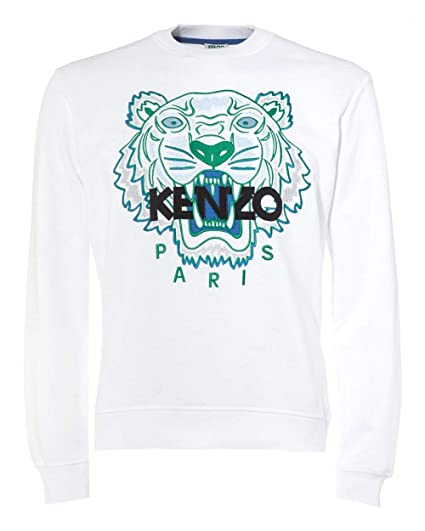 f0be0a72 Kenzo Mens Tiger Head Sweatshirt White: Amazon.co.uk: Clothing