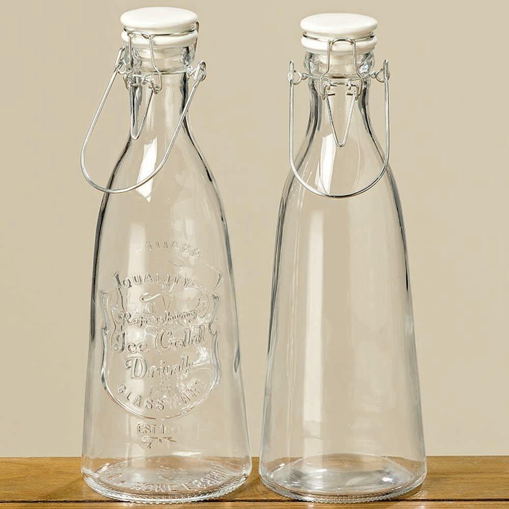 Glasflasche Limal blanko