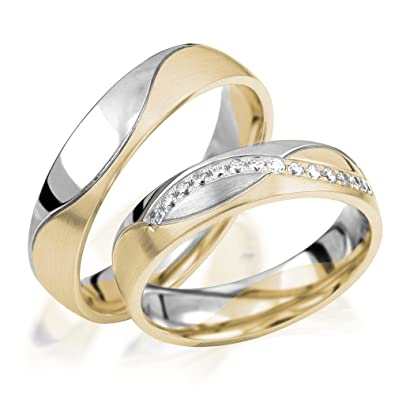 alianzas de oro Anillos de Compromiso en oro 333 alianzas Oro Amarillo 5 mm de ancho