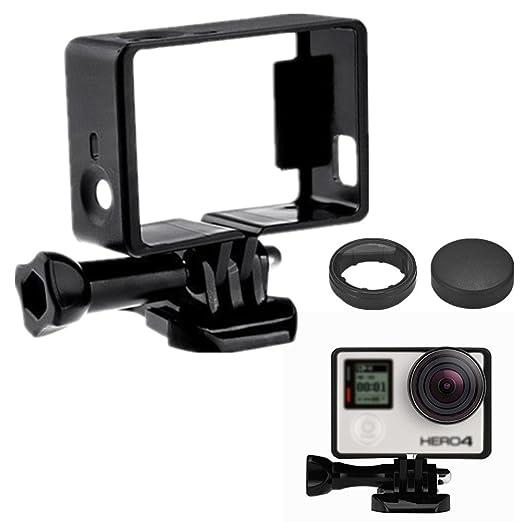 Extensión Montaje de estándar frontera Marco Monte protector carcasa para GoPro - Compatible con GoPro Hero 4 Negro y Plateado, 3 y 3+ / USB, HDMI, y ...
