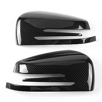1 par de cubiertas de espejo de fibra de carbono, Cubierta del espejo lateral del coche para A B C E GLA Class W204 W212: Amazon.es: Coche y moto