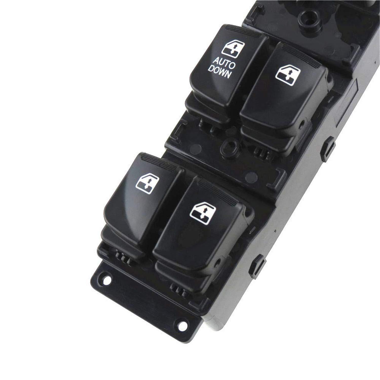 negro Interruptor Principal de Ventana para Fluence LZ 1.5 DCI 2010 OE#254000006R 7700817337 El Interruptor de Control de Alimentaci/ón del Lado Izquierdo del Conductor Delantero