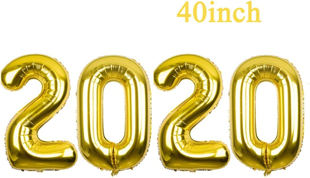 2019 Foil Mylar Balloons 40 Gold Mirror Balloon for New Year Eve Party Decorations