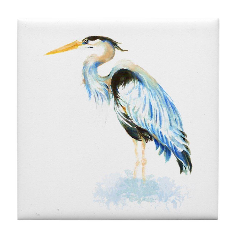 CafePress – 水彩Great Blue Heron鳥野生動物Nature A – タイルコースター、ドリンクコースター、小さな五徳   B074B3TFX1