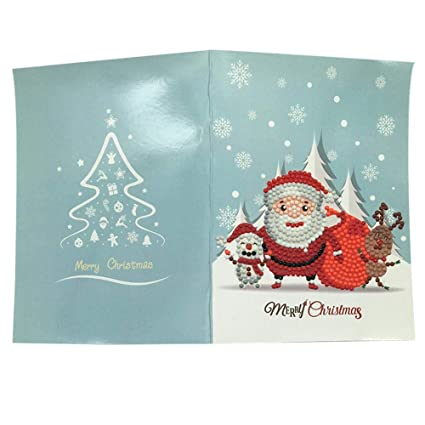 blueyouth diy 5d diamond painting christmas greeting card diy for classmates parents family - Diy Greeting Cards