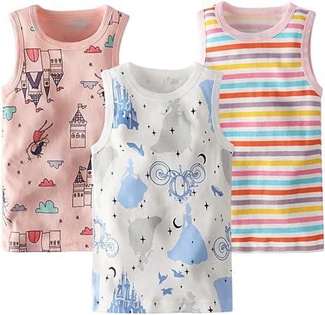 KESYOO 3 Piezas Niños Camiseta sin Mangas Bebé sin Mangas ...