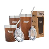 Healthy Human Insulated Stainless Steel Tumbler Travel Cruiser Cup with Straw and Lid 32 oz Harvest Maple