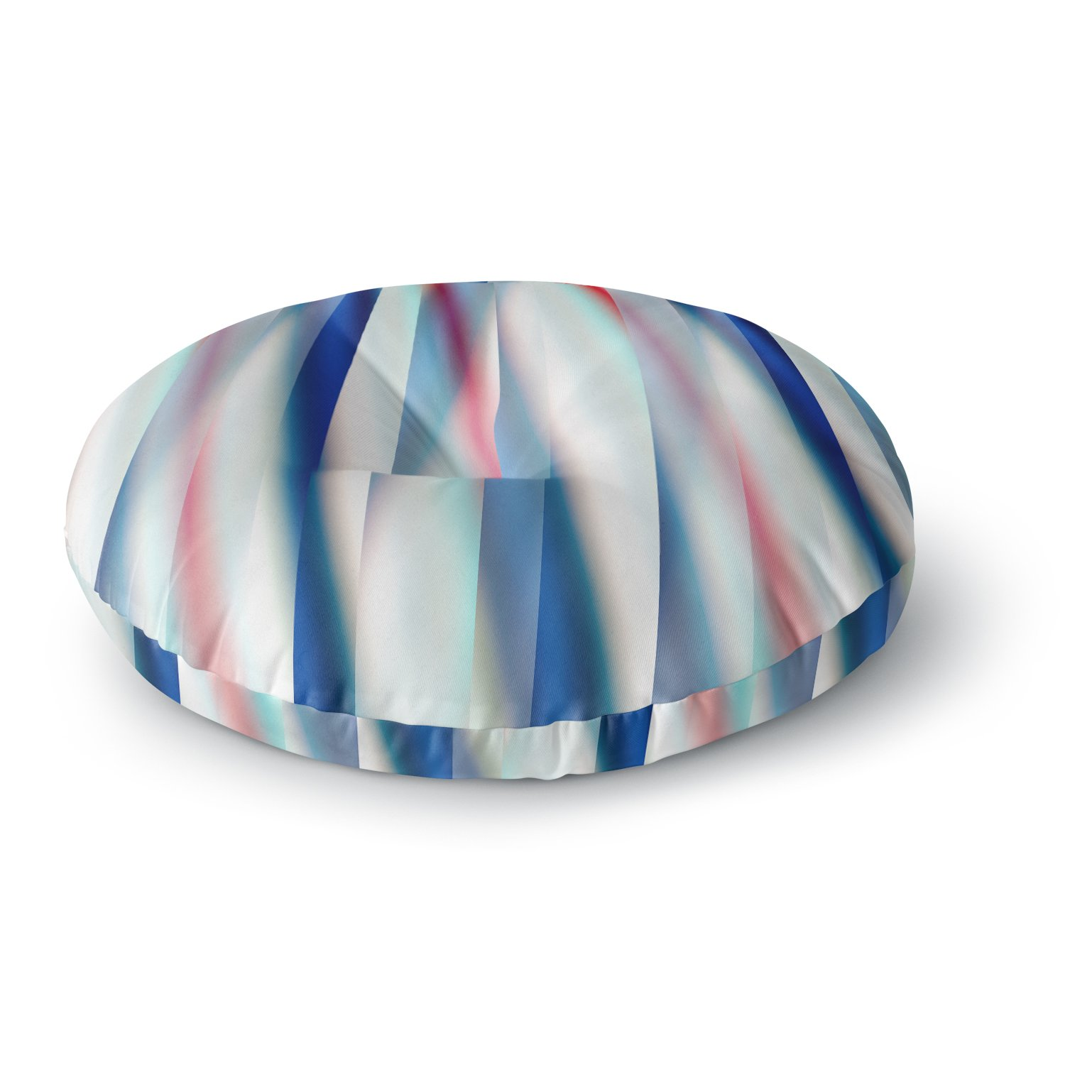 Kess InHouse Bruce Stanfield Ambient 12 Red Blue Round Floor Pillow 26