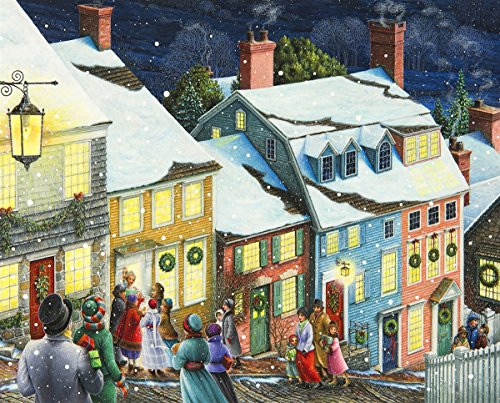 Springbok Puzzles - Christmas Carolers - 1000 Piece Jigsaw Puzzle - Large 30 Inches by 24 Inches Puzzle - Made in USA - Unique Cut Interlocking Pieces