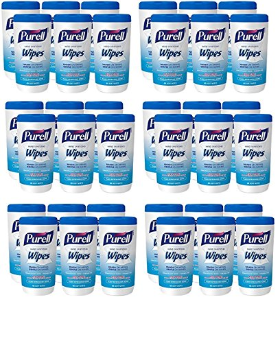PURELL Hand Sanitizing Wipes - Clean Refreshing Scent, Non-Alcohol Wipes, 40 Count Canisters - 6 pack (Packaging may vary) (6 Case of 6 ()
