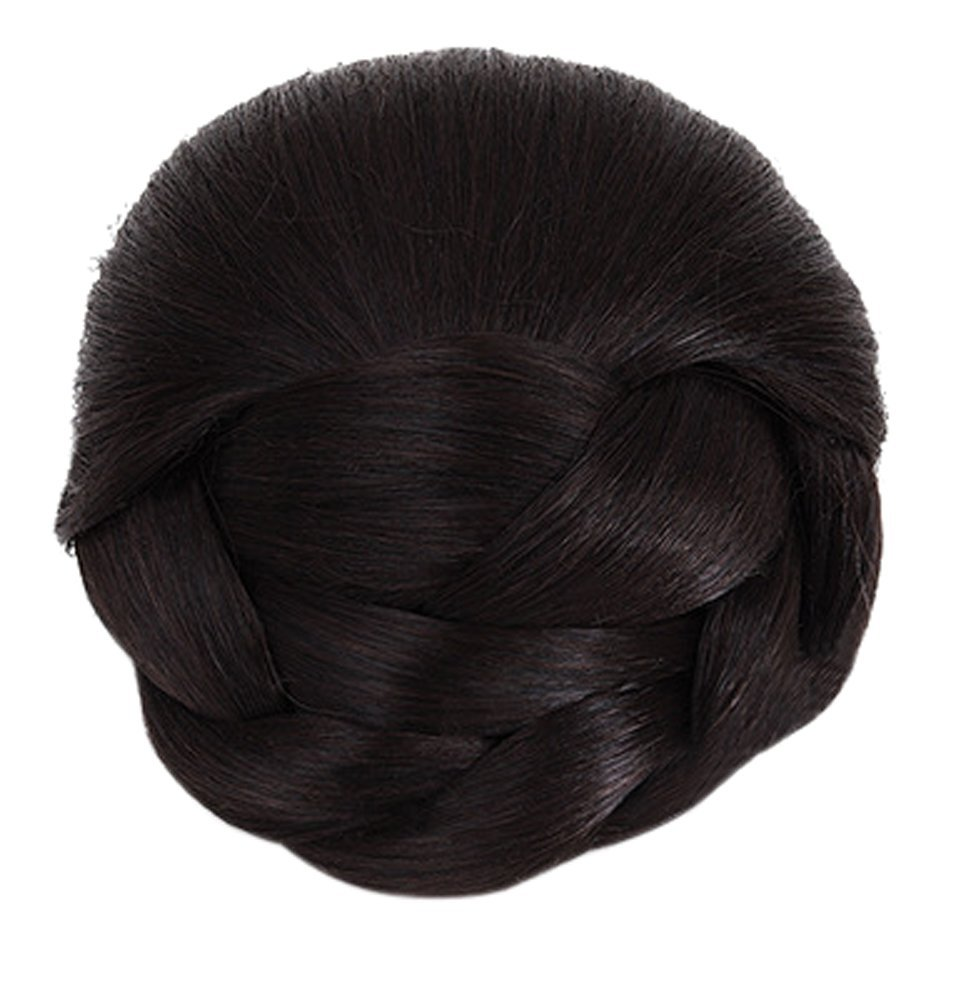 Better-Home Synthetic Hair Braided Chignon Bun Hairpiece Clip in Bun Hair Extensions (2/33#)