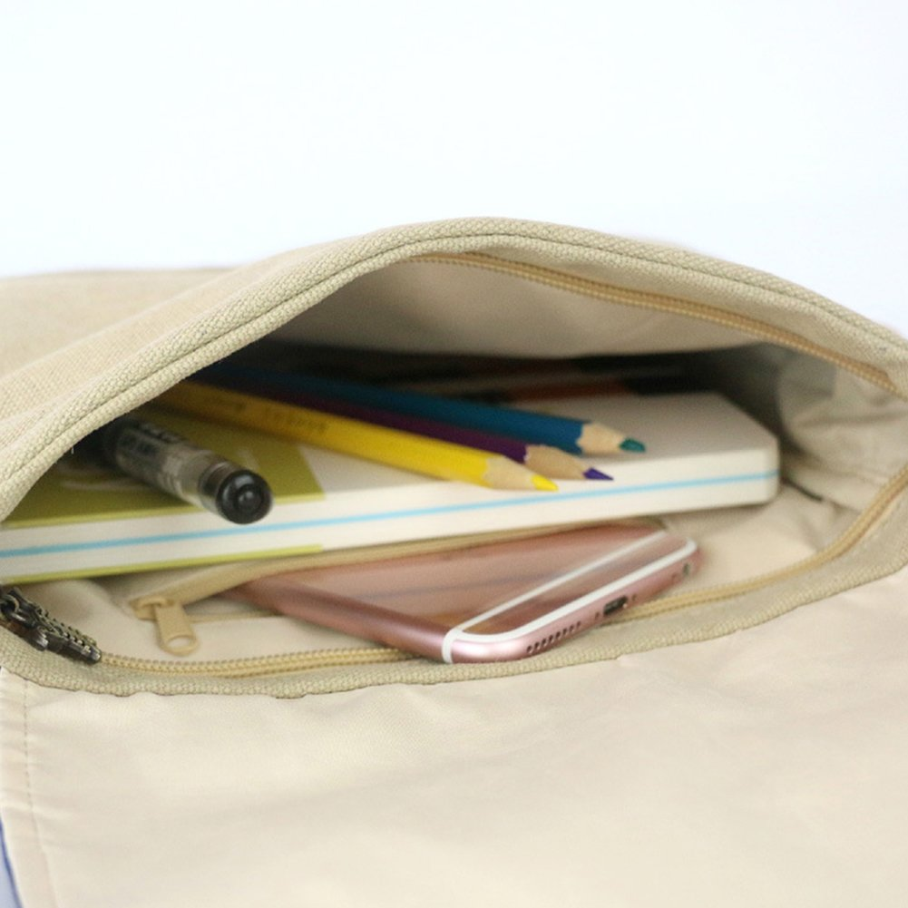 Amyove Women Canvas Single-Shoulder Bag,National Style Satchel Bag Large Capacity