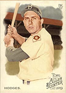 2019 Allen and Ginter Baseball #385 Gil Hodges SP Short Print Brooklyn Dodgers Official MLB Trading Card From Topps