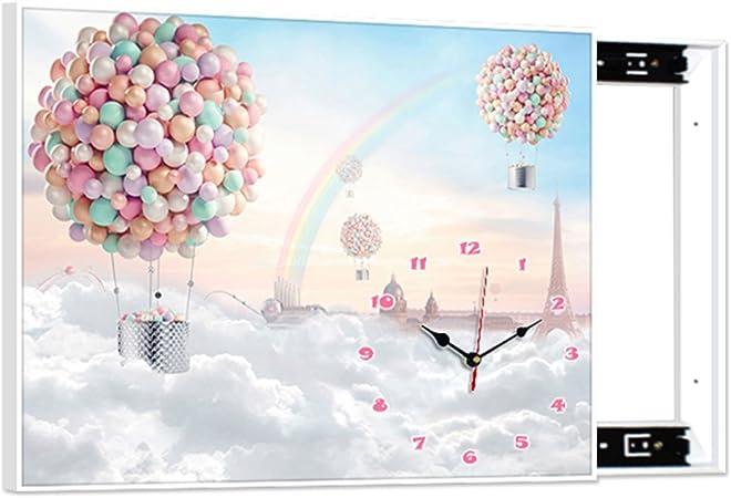 YTS - Reloj de Pared para Pintar (Minimalista, Moderno, Caja Decorativa, Caja de distribución de salón, Caja de distribución de Puerta eléctrica, Protector de Pantalla, Mural de perforación): Amazon.es: Hogar