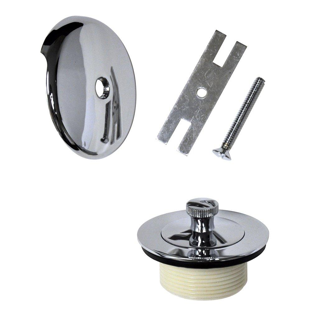 B001AHC654 Danco 88966 Universal Lift And Turn Bath Drain Trim Kit With Overflow Plate, 1-Pack, Chrome 61fsdad9sqL