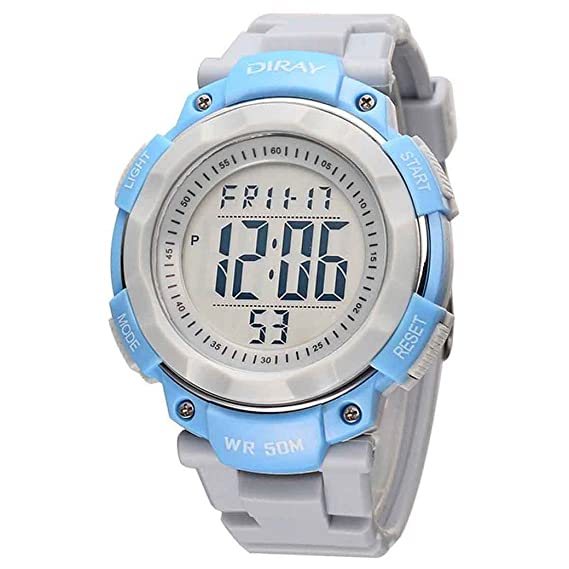 Feoya Deportivo LED Reloj Digital de Cuarzo con Multifunciones Calendario Alarma Cronómetro 50M Waterproof Watch para Hombres Chicos Adolescentes Jóvenes ...